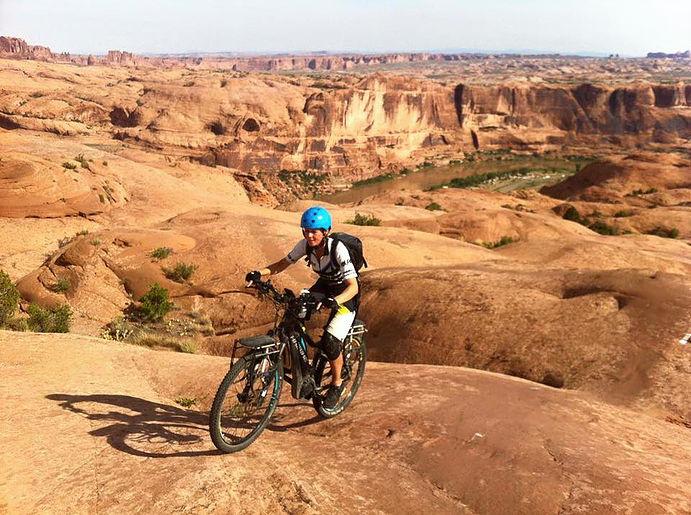 slick trail. Moab. haibike, susanne bruesch