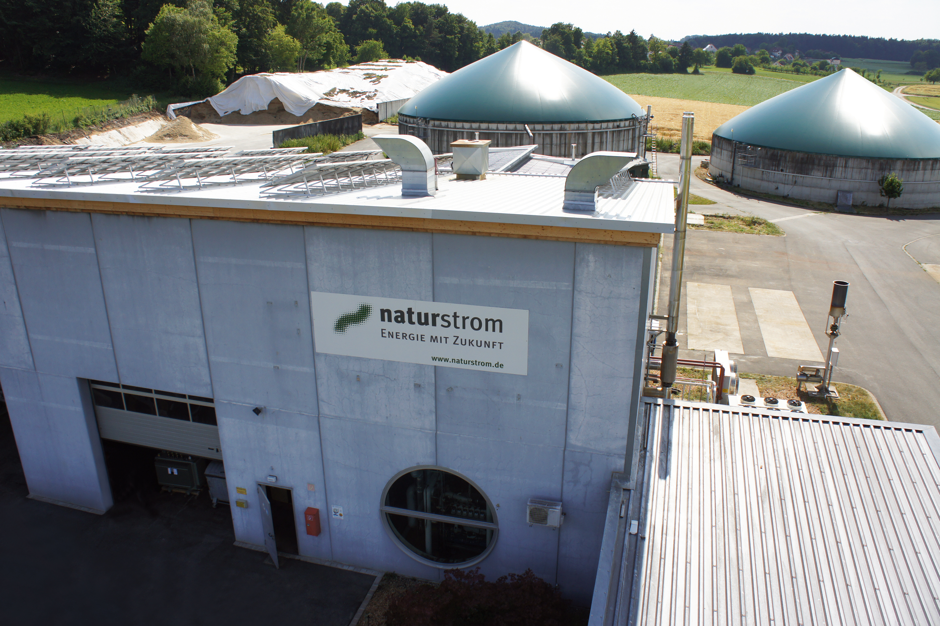 central de Bio masa construida por Naturstrom